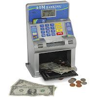 Caixa registradora e ATM para crianças