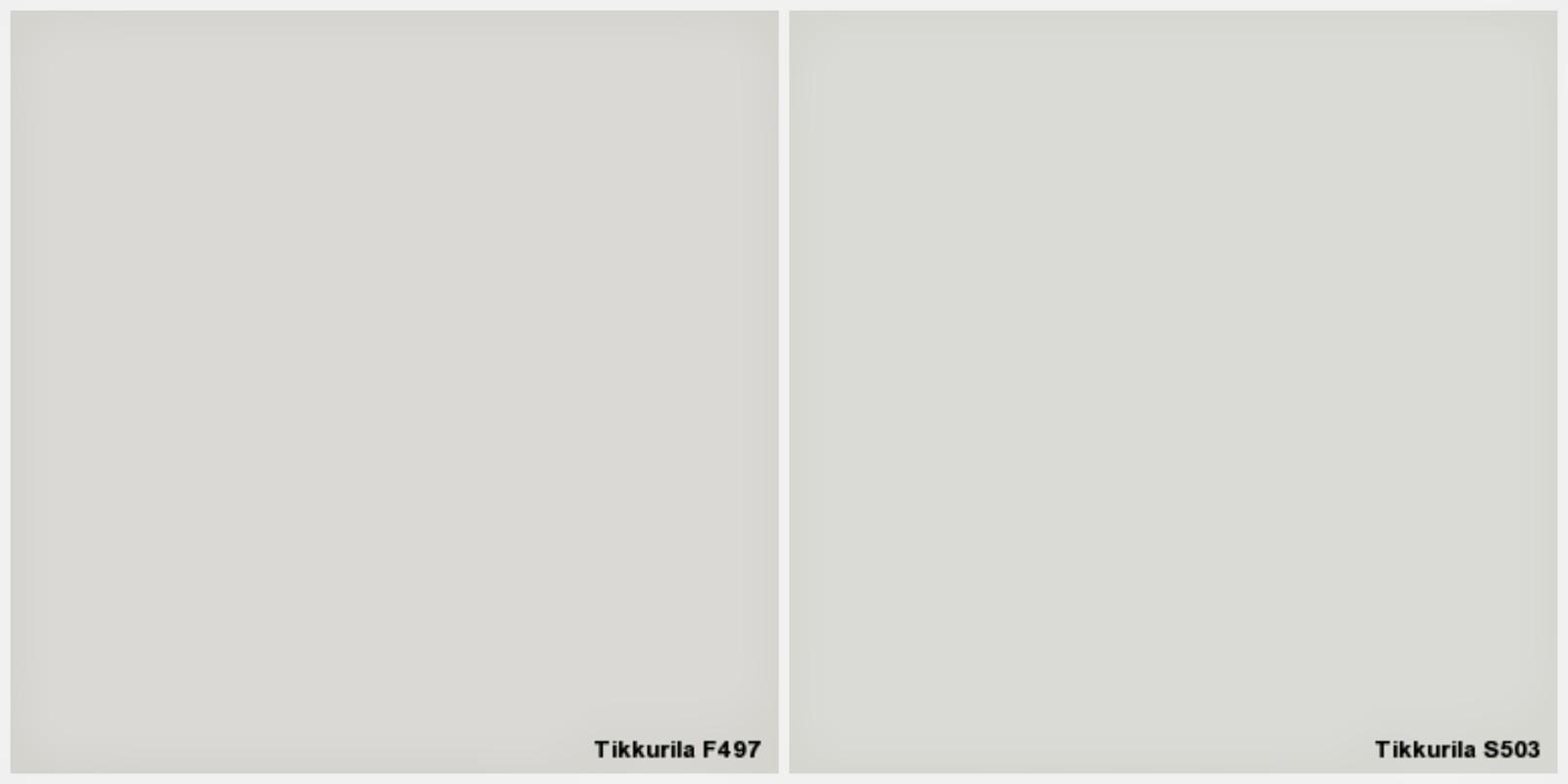 Tikkurilan Paperi F497 vai Lumikko S503 seinien valkoiseksi?