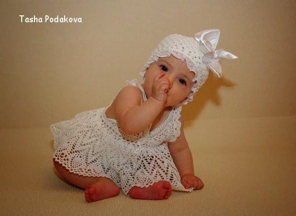 Bello vestido para bebé ideal para el verano