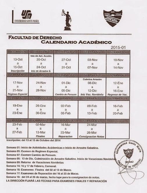 Calendario Académico 2015-01