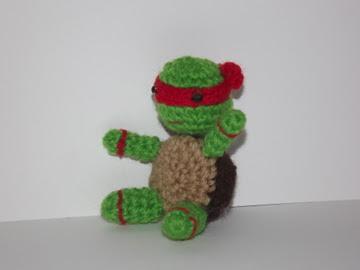 Tortugas_ninja_roja_ rafael_amigurumi_ rafael