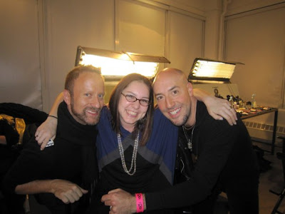 Victor Cembellin, Gregory Arlt, M.A.C Cosmetics makeup artist, backstage, New York Fashion Week, Erin Fetherston