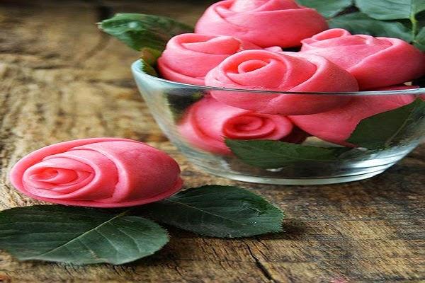 Chiếc bánh bao hoa hồng cực đẹp