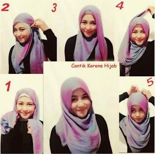 hijab untuk wajah bulatmudah
