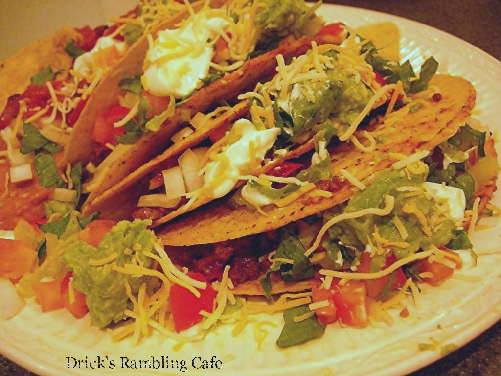 Ground Beef Tacos ~ Drick's Rambling Cafe