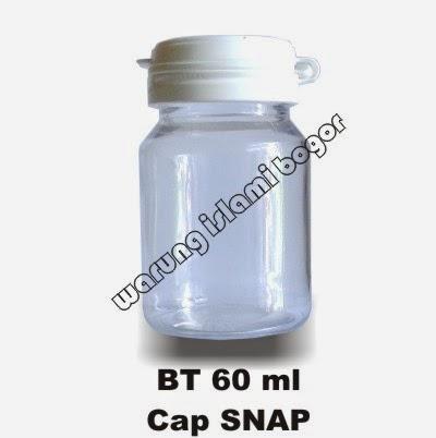 Jual Botol Plastik Bulat 60ml Bening