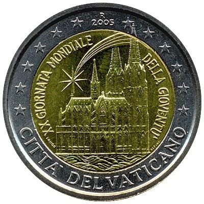 2 euro coins Vatican 2005
