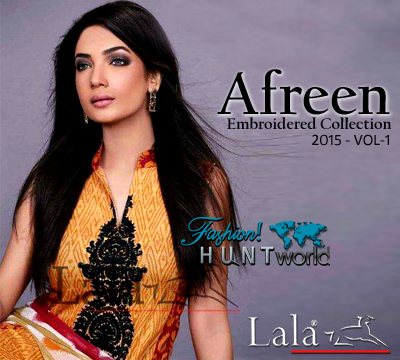 Afreen by Lala Embroidered S/S Collection 2015