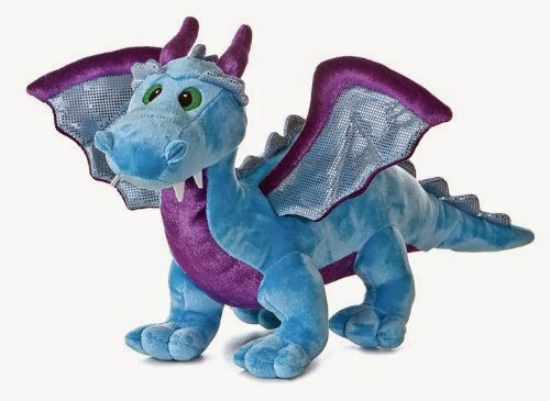 Aurora Plush Blue Dragon