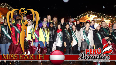 Miss Earth 2015 Visits Wolfgangsee Christmas Market