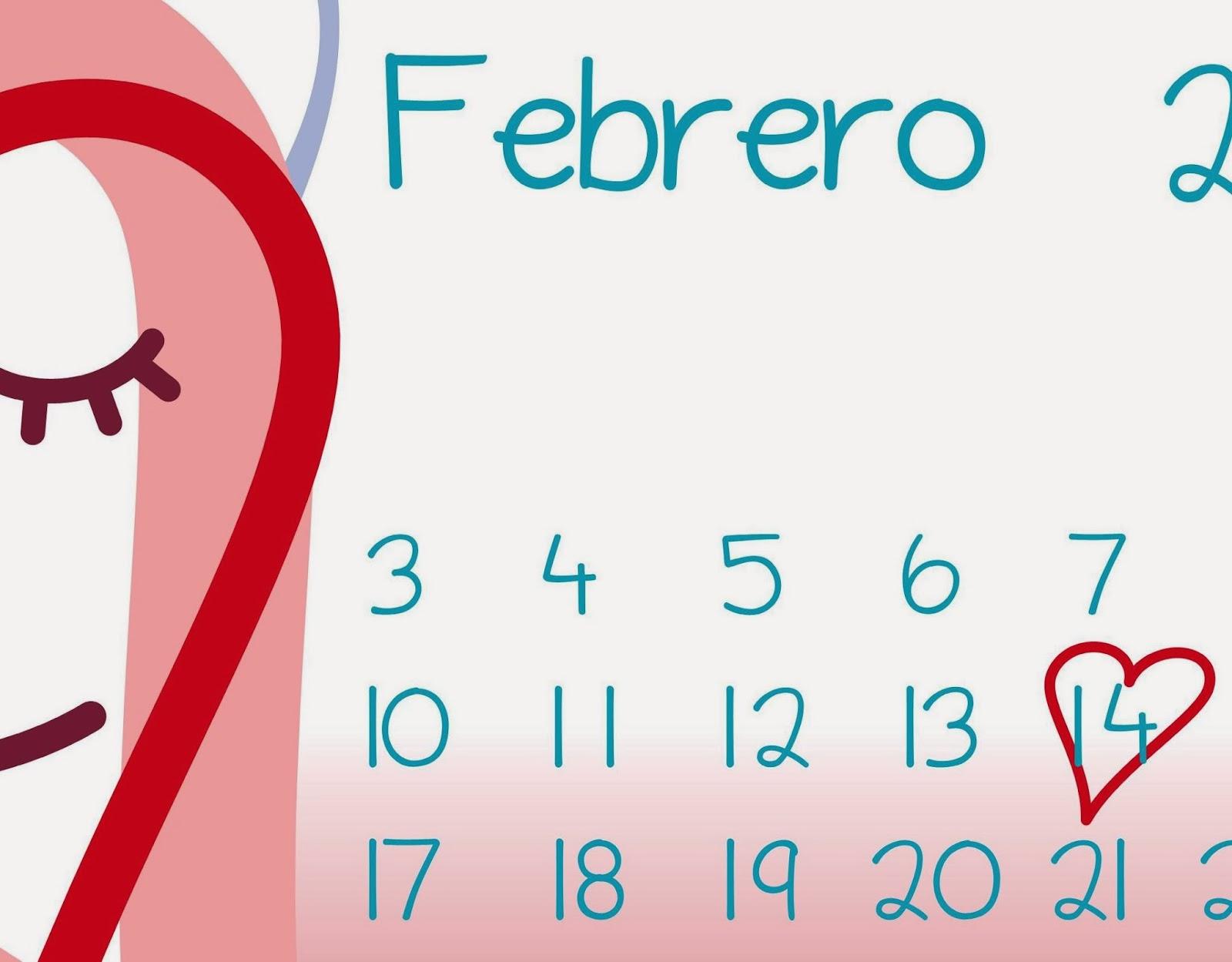 calendario Febrero, Decora Educando