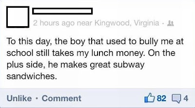 On the plus side, he makes great subway sandwiches