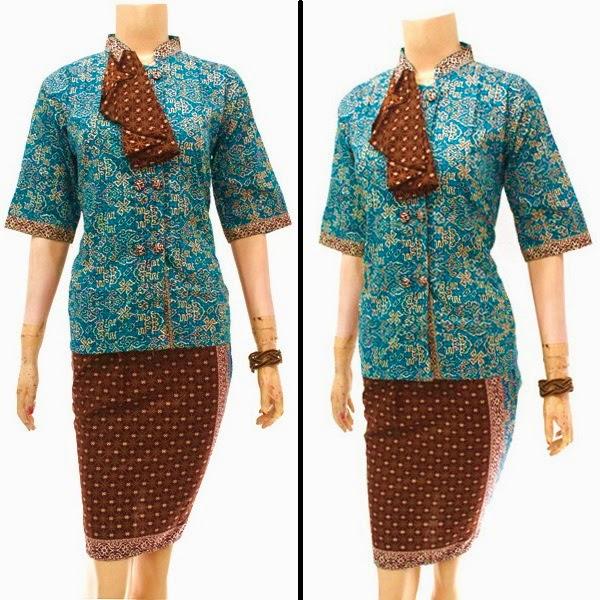 Dress Batik Kerja Pramugari