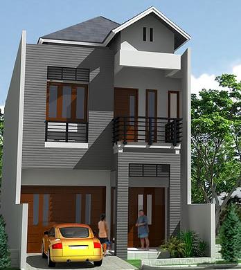 model rumah minimalis 2 lantai type 36 sederhana tampak