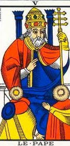Carta del sumo sacerdote en el tarot