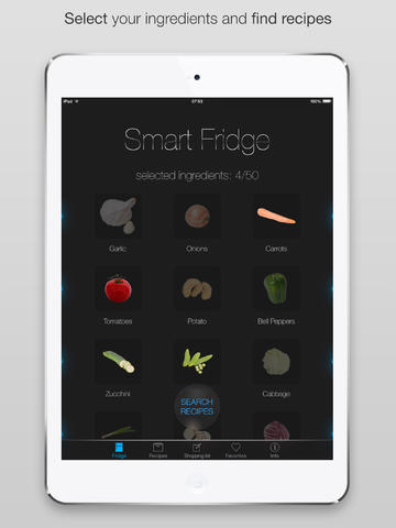 Smart kitchen - fridge ipad