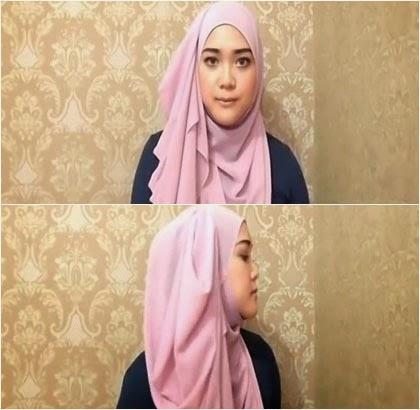 Tutorial Hijab Simple Menutup Dada Tampil Lebih Syar'i