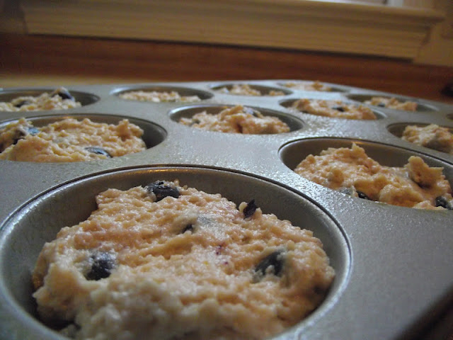Greek Lemon Blueberry Muffins