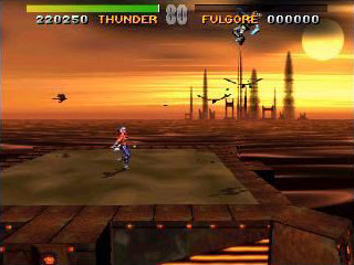Chief Thunder fighting Fulgore in Killer Instinct arcade game