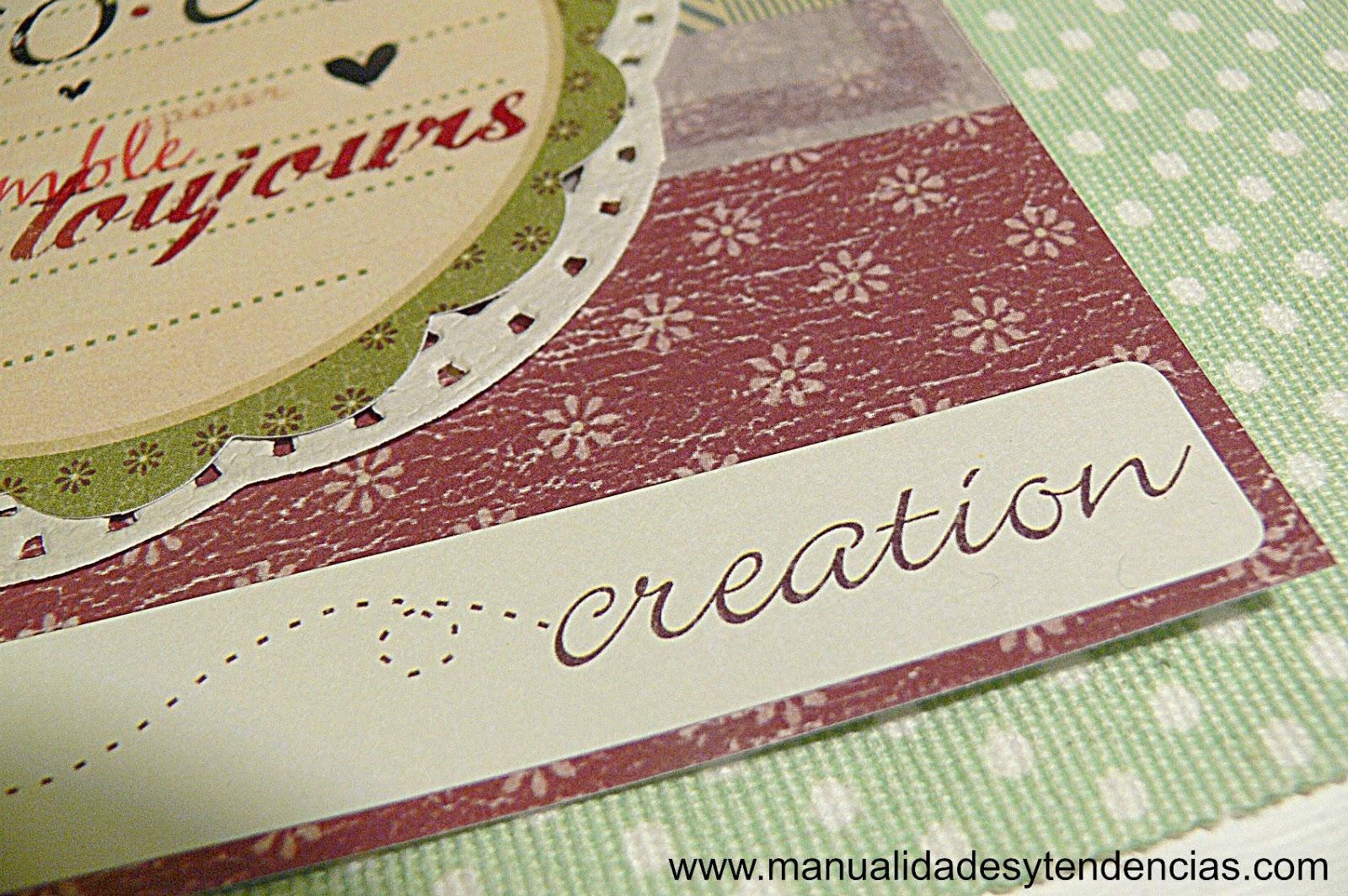 scrapbooking tarjeta de San Valentín hecha a mano
