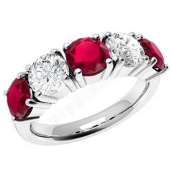 inel cu rubin si diamant