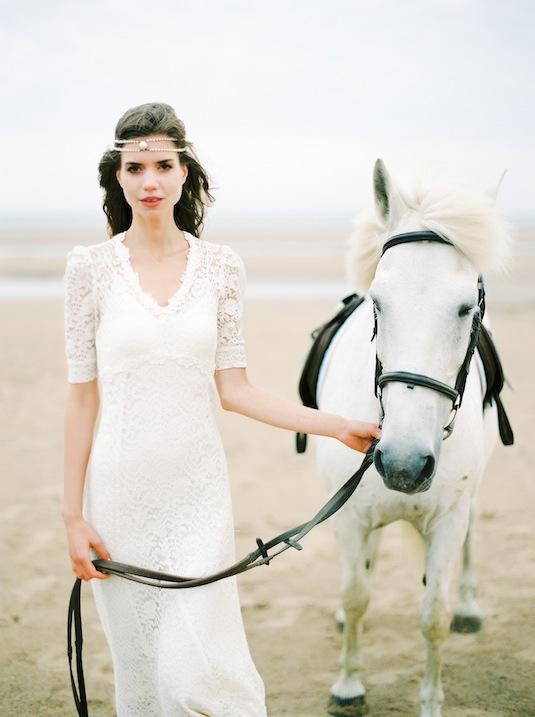White Horses, White Sands... and White Vintage Wedding Dresses ...