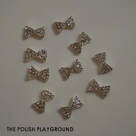 Born Pretty Store 10pcs Silver Bowknot 3D Nail Studs