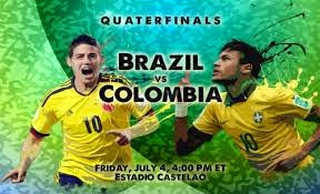 LIVE STREAMING Brazil vs Colombia LIVE STREAM FIFA WORLD CUP 04 JULY 2014