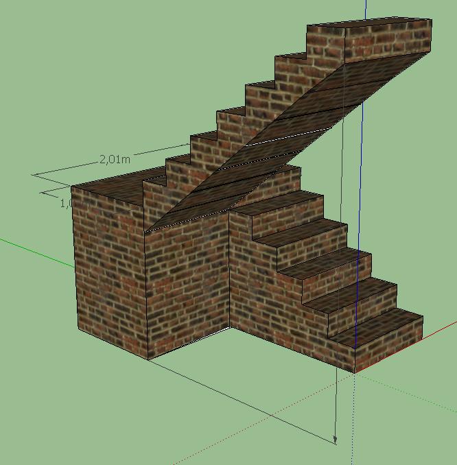 Peter s blog escaleras en sketchup - Escaleras de ladrillo ...