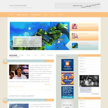 Malotis Magazine blogger template. slideshow template blog. pagination for blogger template. magazine style blog template. template blog form wordpress theme