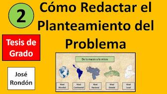Video: Como Redactar el Planteamiento del Problema