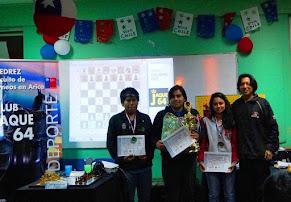 GUILLERMO PAEZ MEDINA  fue el Campeón del XII Torneo de Maestros Ajedrez Arica 2015