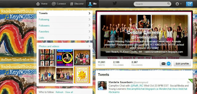 Twitter Home Page for Debbie Clement @Kweezlequeen