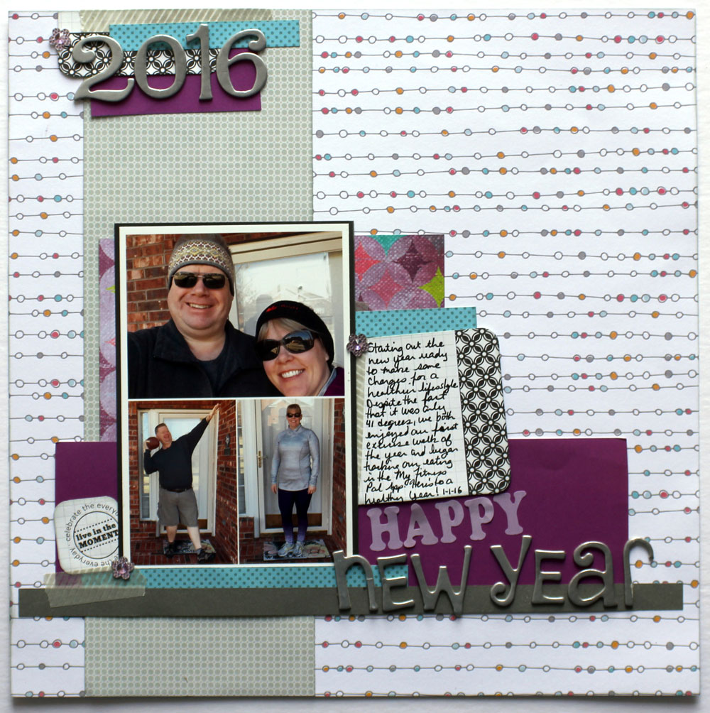 Scrapbook ideas for elderly - I M Determined To Use My Stash Of Scrapbook Supplies This Year And Only Purchase Items For Which I Have A Specific Plan For This Layout I Used One Full
