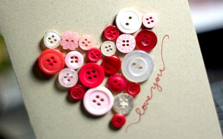 Tarjeta de amor con botones ~ Portal de Manualidades