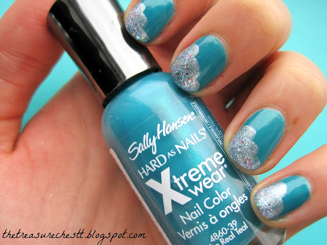 the real teal sally hansen w7 blue mirror china glaze liquid crystal cloud spring sky manicure swatch nails