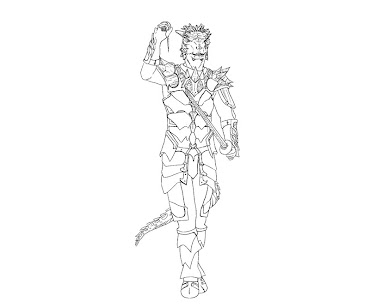 #8 The Elder Scrolls Coloring Page