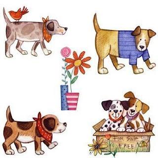 dibujos de perros para imprimir Animales domesticos para imprimir