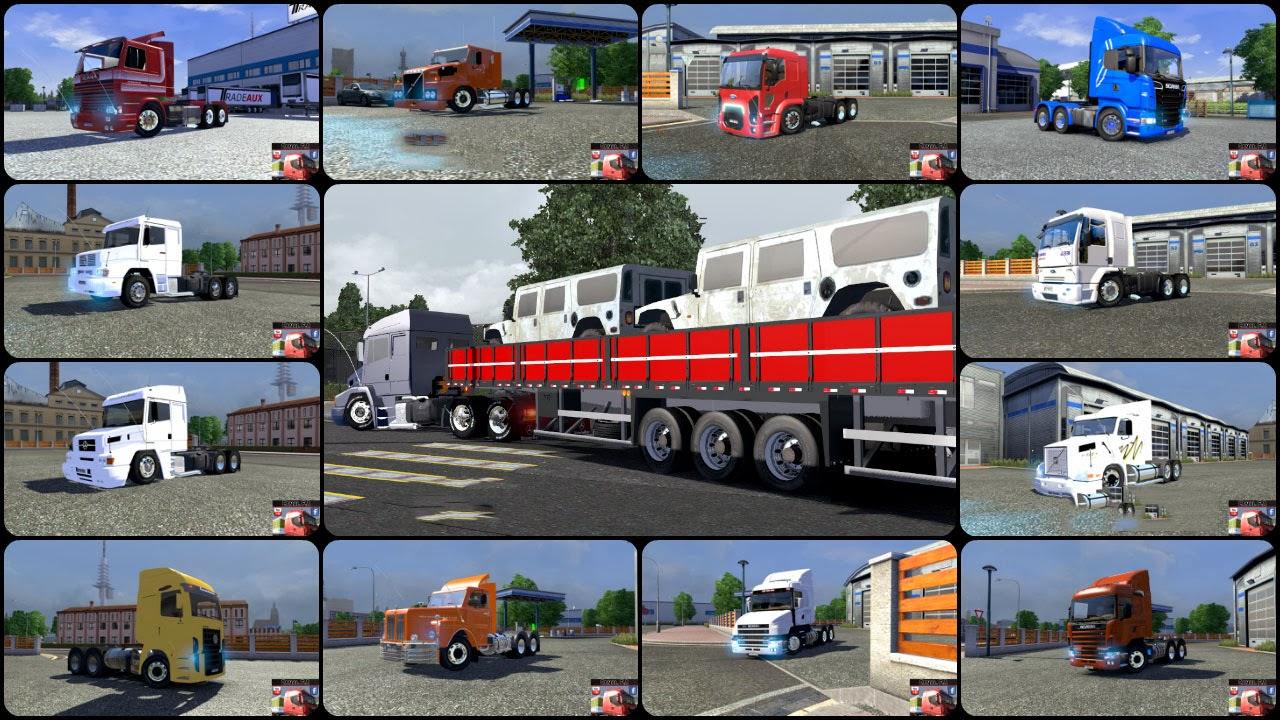 Mod – Pack de caminhões brasileiros – ETS2