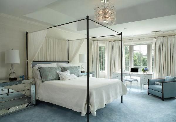 Desain Kamar Tidur Warna Putih