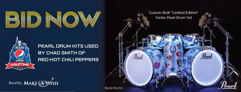 Red Hot Chili Peppers Super Bowl Drum Set
