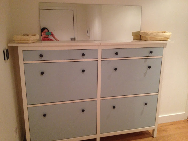 Wedded Hemnes Shoe Cabinets [Twined and Painted] title=