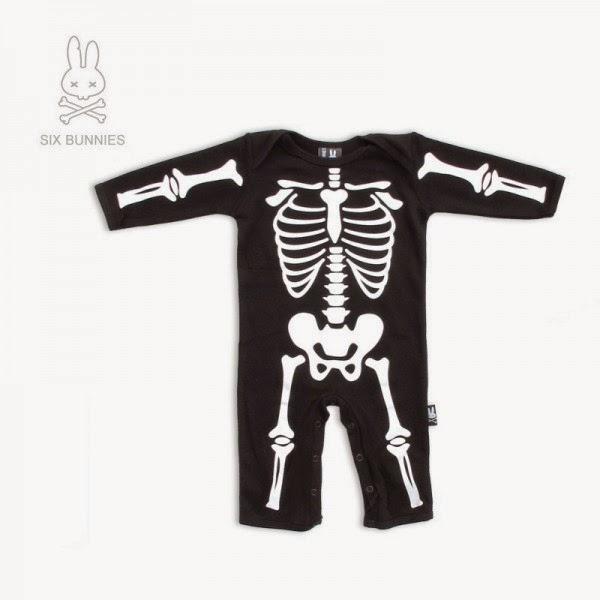 bodysuit para bebe esqueleto halloween