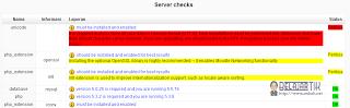 Pengecekan Server instalasi Moodle