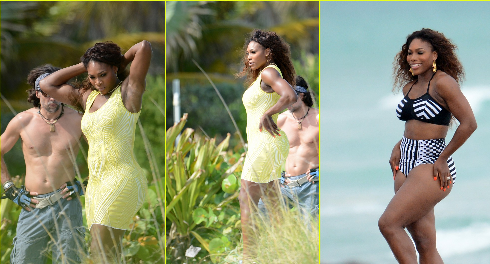 Serena Williams photo shoot in Miami Beach.