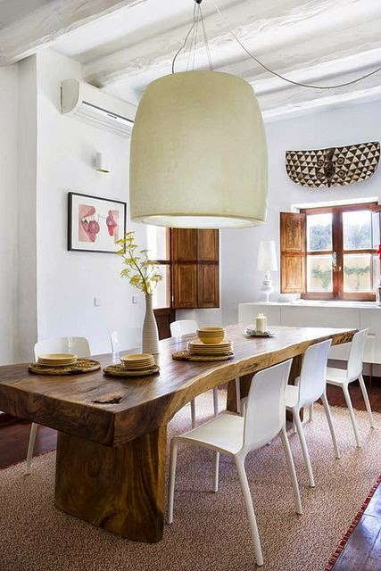 eclectic dining room reclaimed wood table