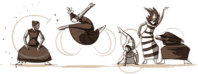 Martha Graham's 117th Birthday. Animation by Ryan Woodward.
