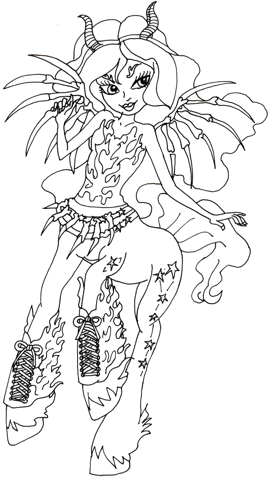 free printable monster high coloring pages aery evenfall monster