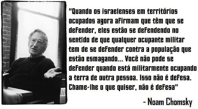 Noam Chomsky - Israel nao se defende ao ocupar terras palestinas