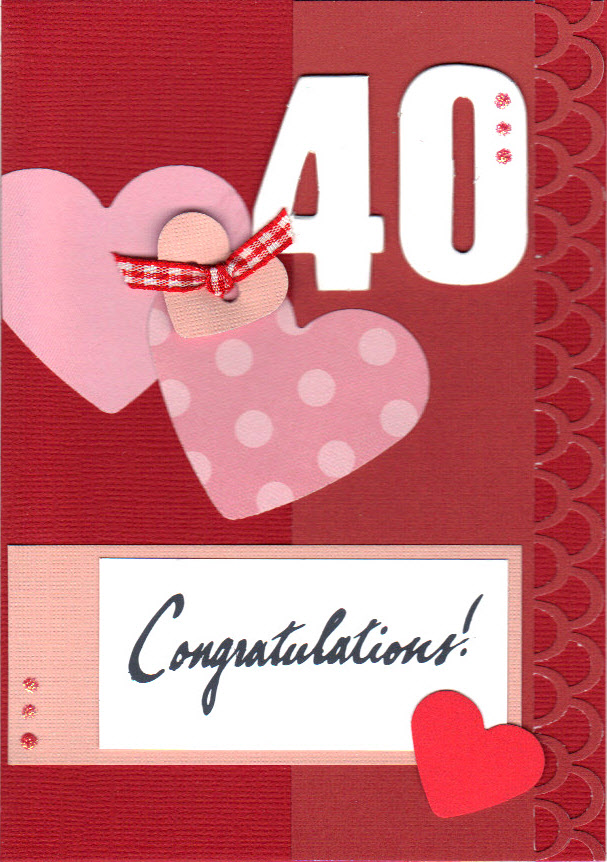 Chickadee Cards 40th Anniversary Card